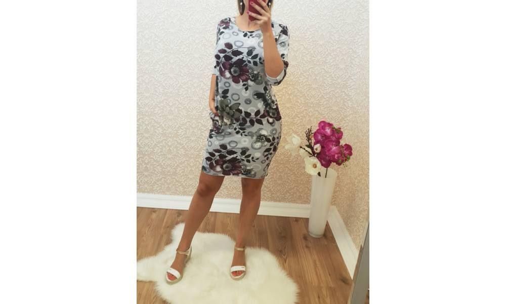 e901b6904d Virágmintás zsákruha - Ruha - Luna Gardrobe Női ruha WebÁruház, Akciós -  olcsó női ruha