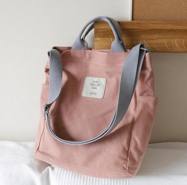Photo of Pastel Aesthetic Canvas Tote Bag