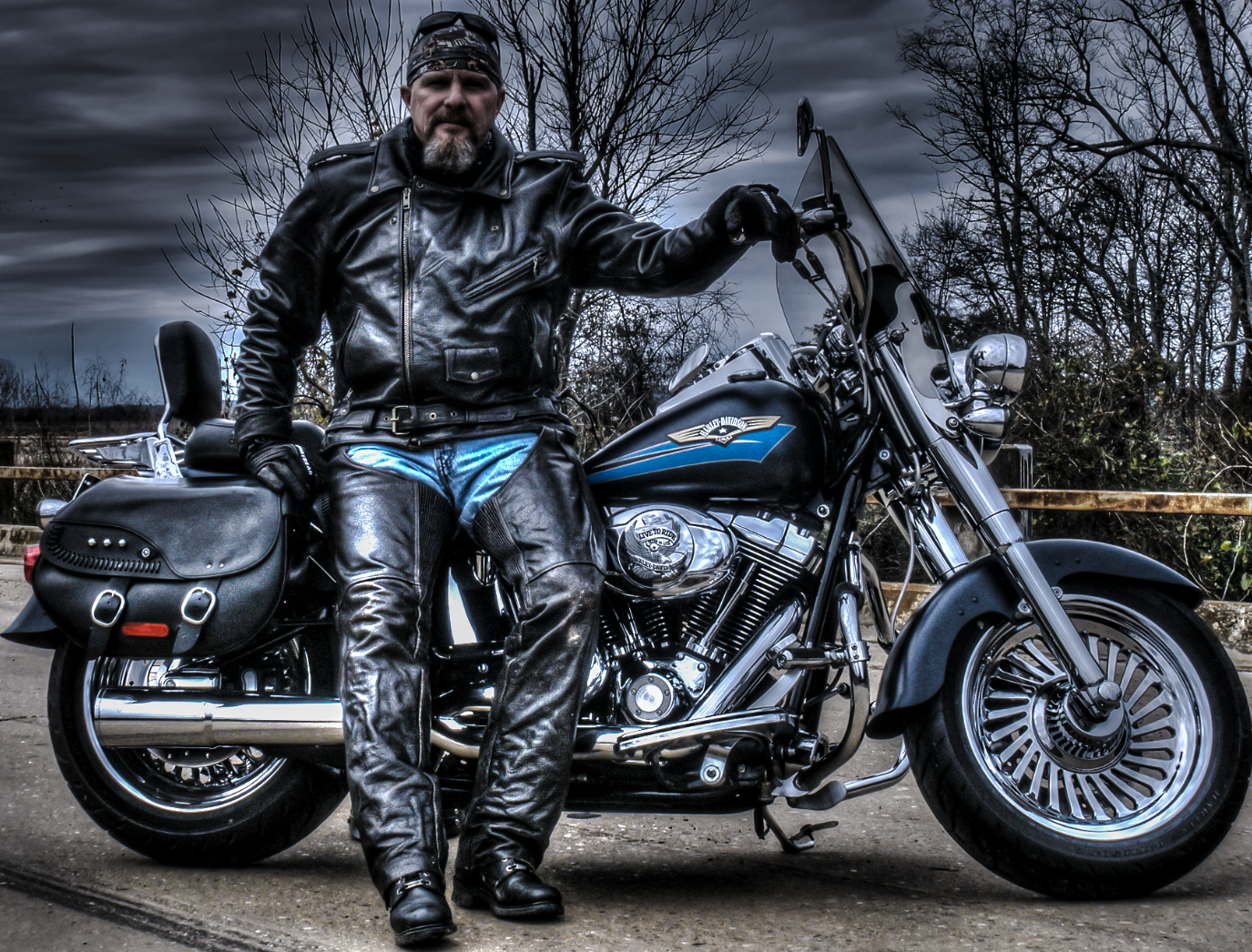641f0603f Harley Biker HDR portrait by Roger Younce Photography | Photography ...