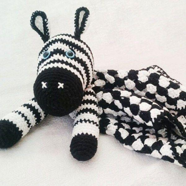 Amigurumi cebra bebé consolador - patrón de ganchillo libre ...