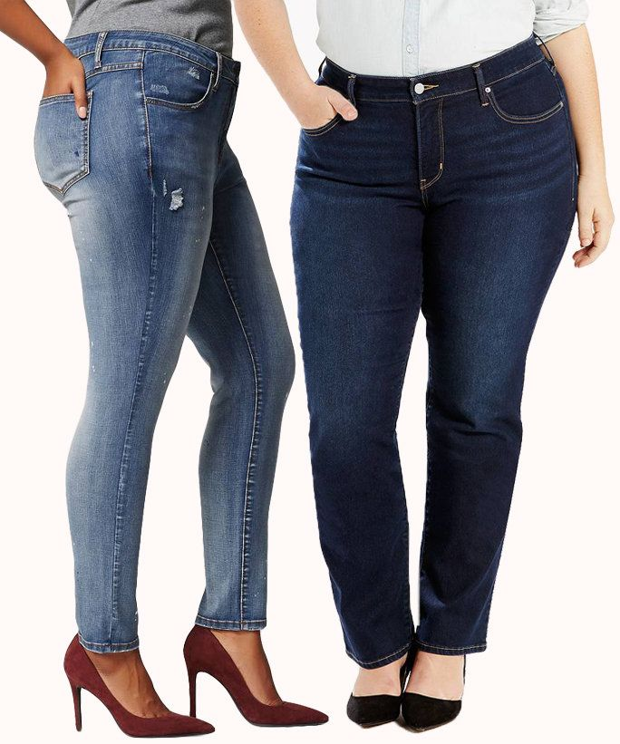 a guide to the best jeans for women with curves | curvy style