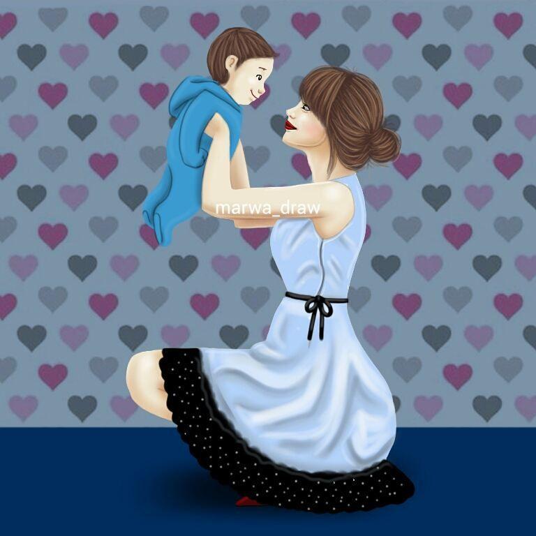 صور رسم بنات كرتون رمزيات رسومات انمي للانستقرام Dibujo Madre E Hija Imagenes Madre E Hija Madre Y Bebe