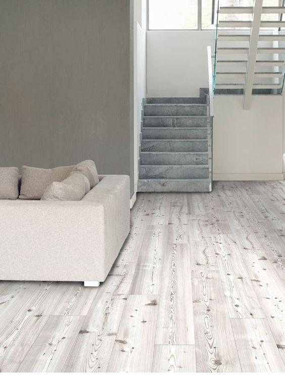 cozy whitewashed printed cork flooring tiles | Walls
