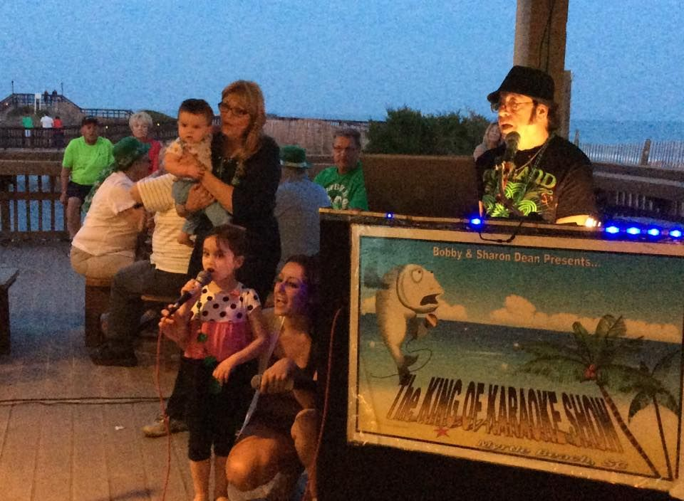 Family style karaoke at The Quarterdeck Beachside with the