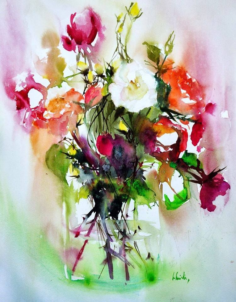 101 Facebook With Images Flower Painting Floral Watercolor