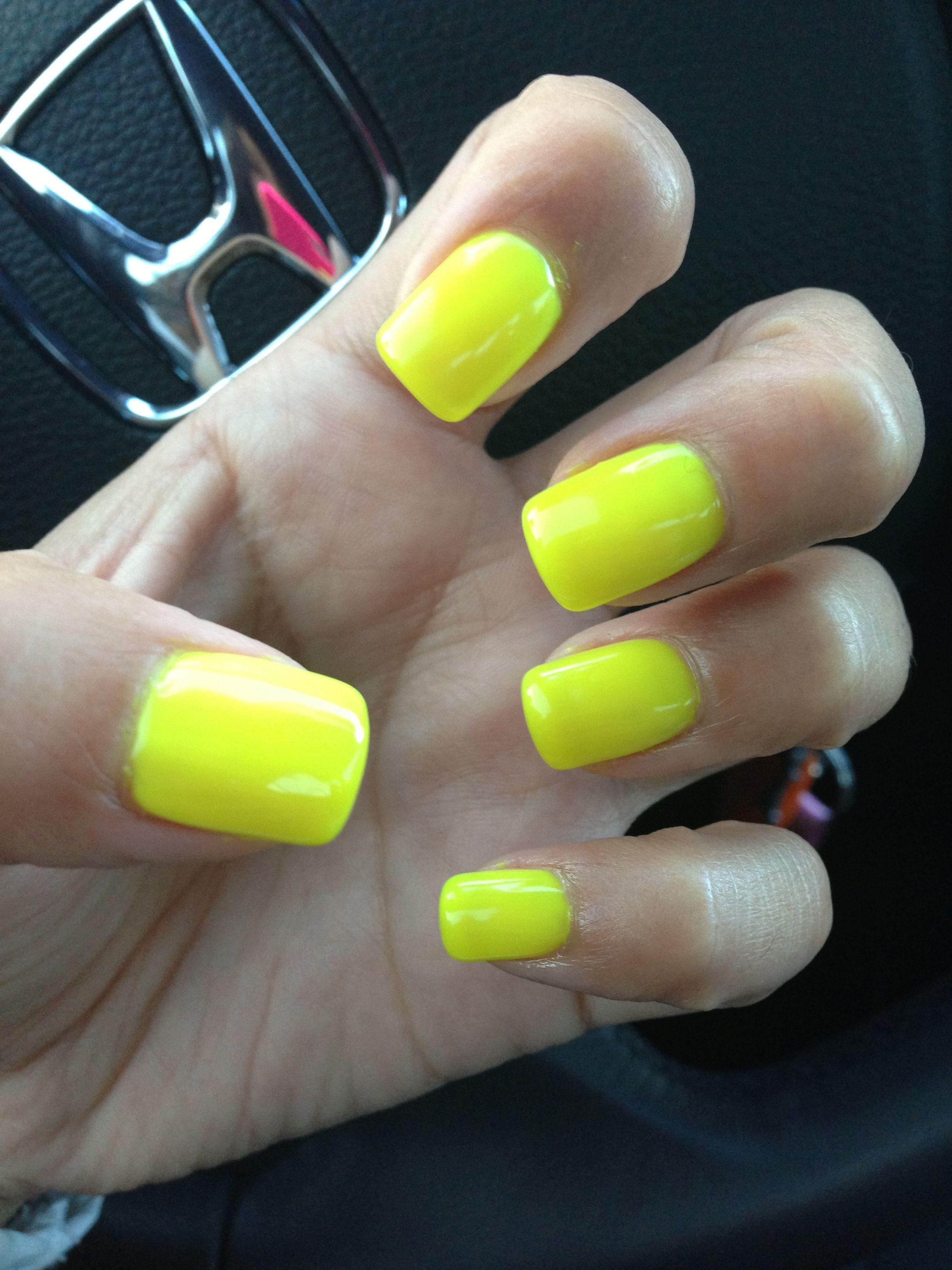Neon yellow nails | Nails | Pinterest | Neon yellow nails and Yellow ...