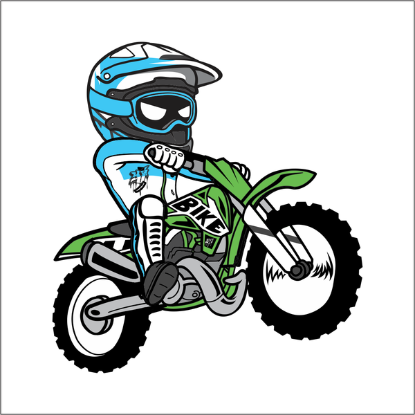 Cartoon Dirt Bike Sticker Moto Da Cross Veicoli E Moto