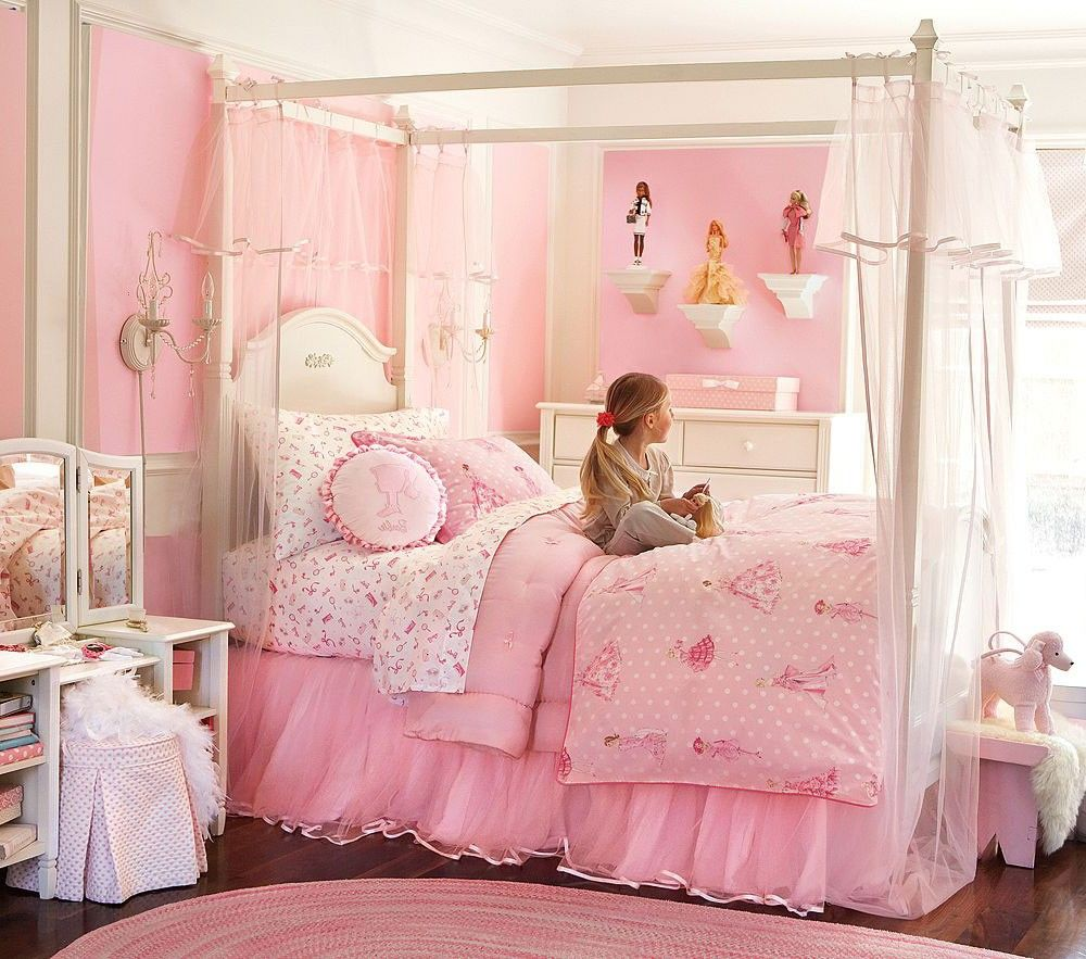 - Wood Canopy Twin Bed For Girls Minnie Mouse Canopy Bed Sets