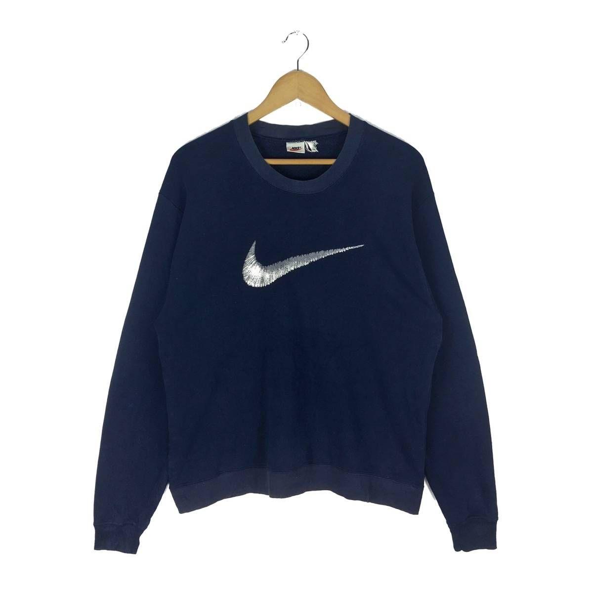 Nike Vintage Vintage Nike Big Logo Sweatshirt Crewneck Swoosh Size M 67 Vintage Nike Sweatshirts Nike Tops
