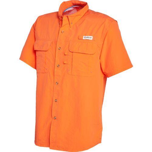 Alion Mens Fashion Basic Cotton Short Sleeve Fishing Shirts for Work Military