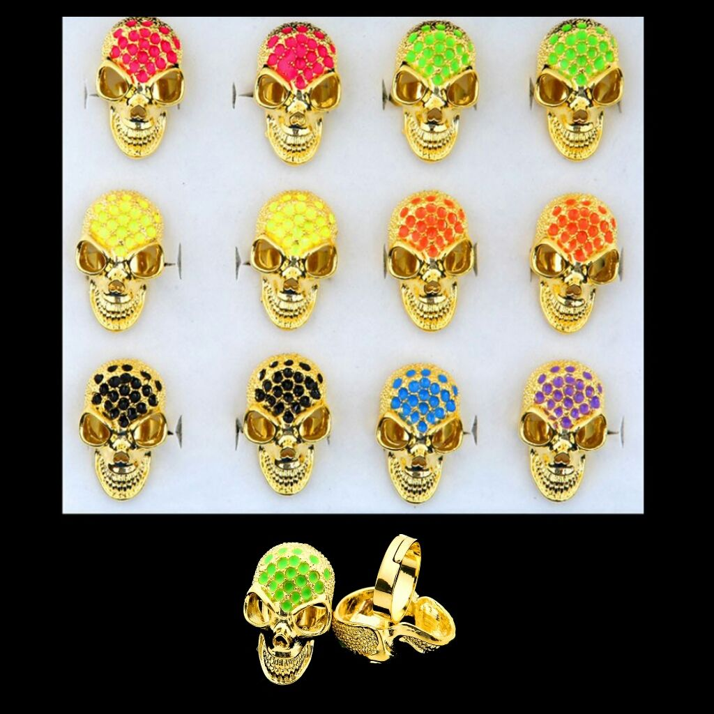 Skull Rings in an assortment of colours #CatwalkFashion #Accessories #CatwalkAccessories #2013 #Spring #SpringFashion #Fashion #Colors #Colours #Brights #Neon #Darks #Classy #Sexy #Casual #Beauty #SmartCasual #Outfitoftheday #OOTD #PhotoOfTheDay #MakeUp #LooksforLess #Dress #Top #Ghutra #GhutraFashion #Hair #Model #Ladies #WomensFashion