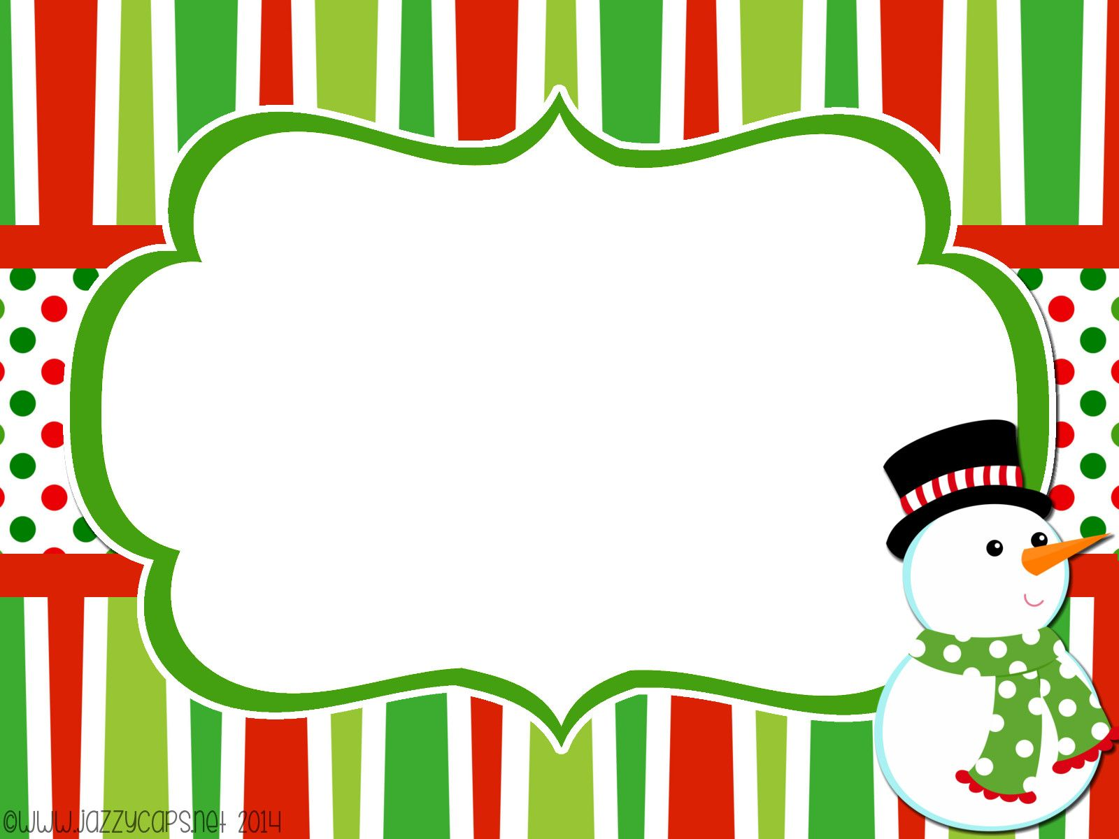 Christmas Editable Note freebie
