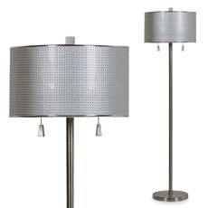 Bed Bath And Beyond Lamp Shades Delectable Brushed Steel Circles Floor Lamp  Bed Bath & Beyond  Beautifying Design Decoration