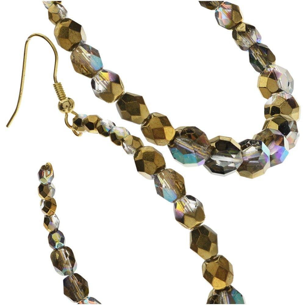 Make fun lightweight hoop earrings using memory wire and Czech Glass ...