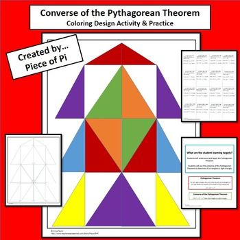 ac8964b69ce3 This geometric coloring design will help students practice using the  converse of the Pythagorean Theorem. This would be perfect for emergency  sub plans.