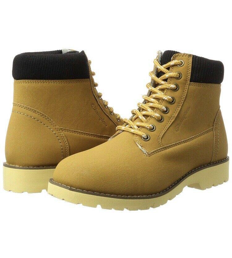 e7eaadf0db4 Champion Mens High Cut Upstate Boots Brown UK 8 EUR 42 Sand Beige Smart  Fashion