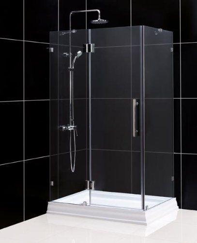 Dreamline Quadlux 34 X 34 X 73 Frameless Hinged Shower Enclosure