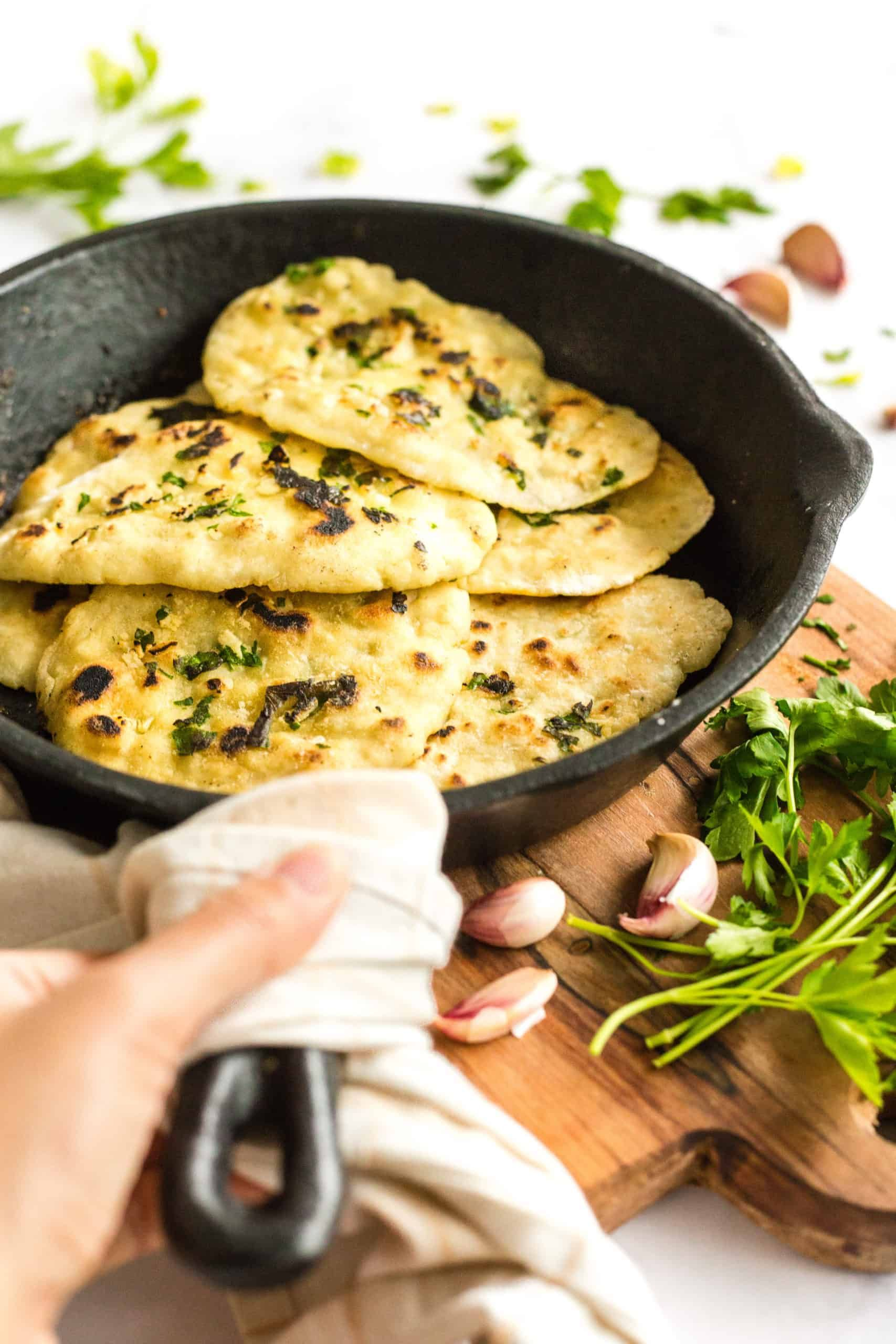 A super easy gluten-free naan made without yeast or dairy ...