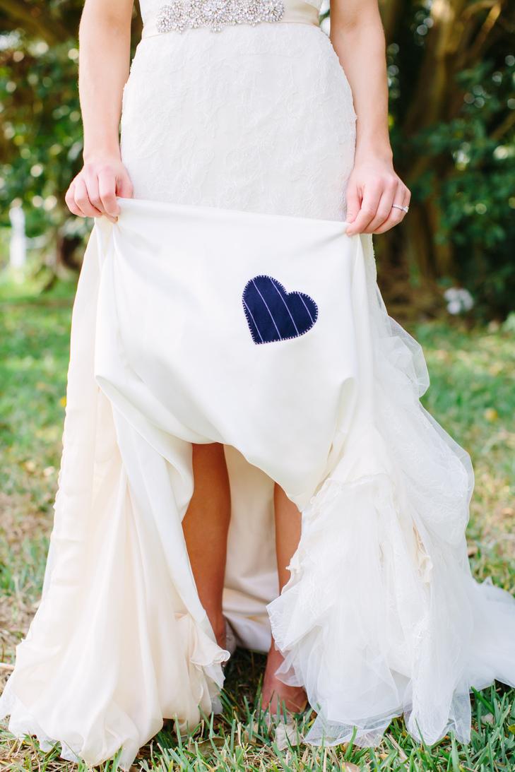 DIY Striped Blue Wedding Dress Heart | Bijou Bridal | Martina ...
