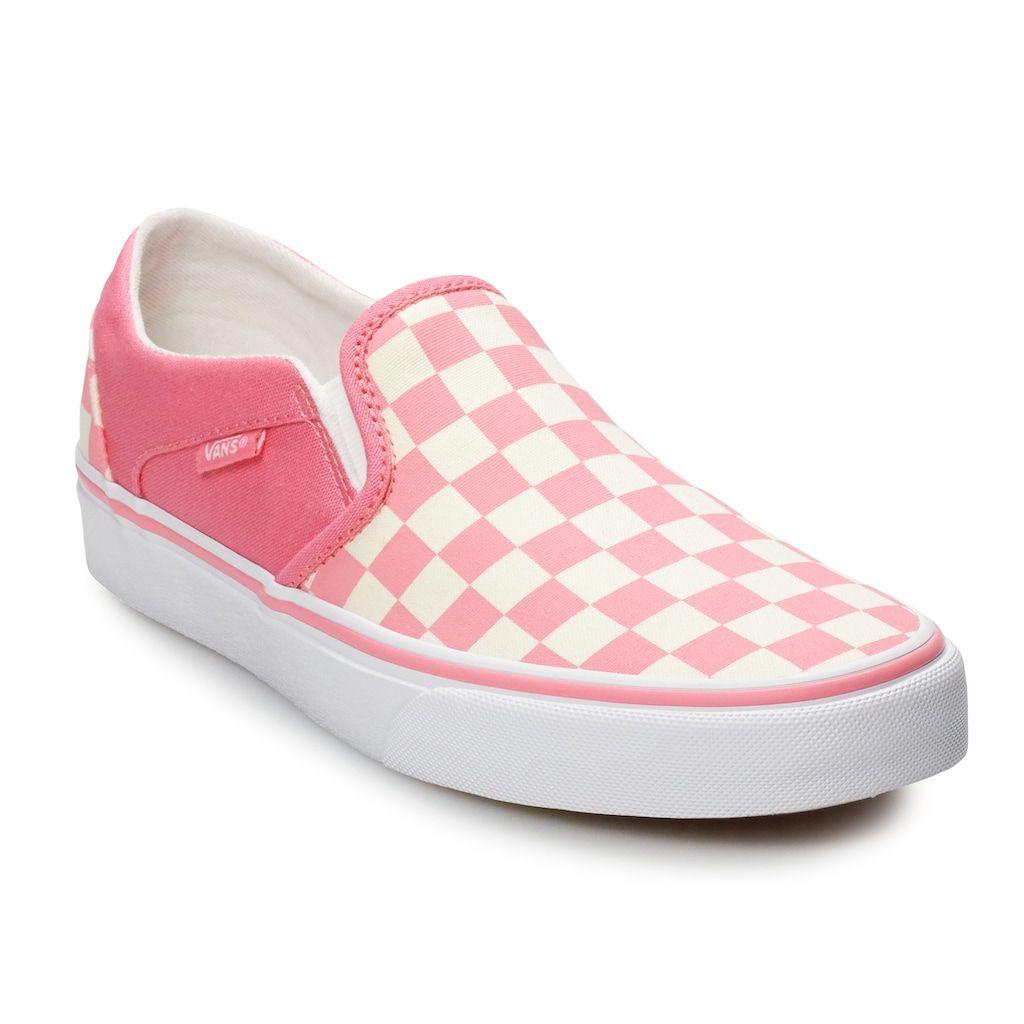 vans asher slip on girls