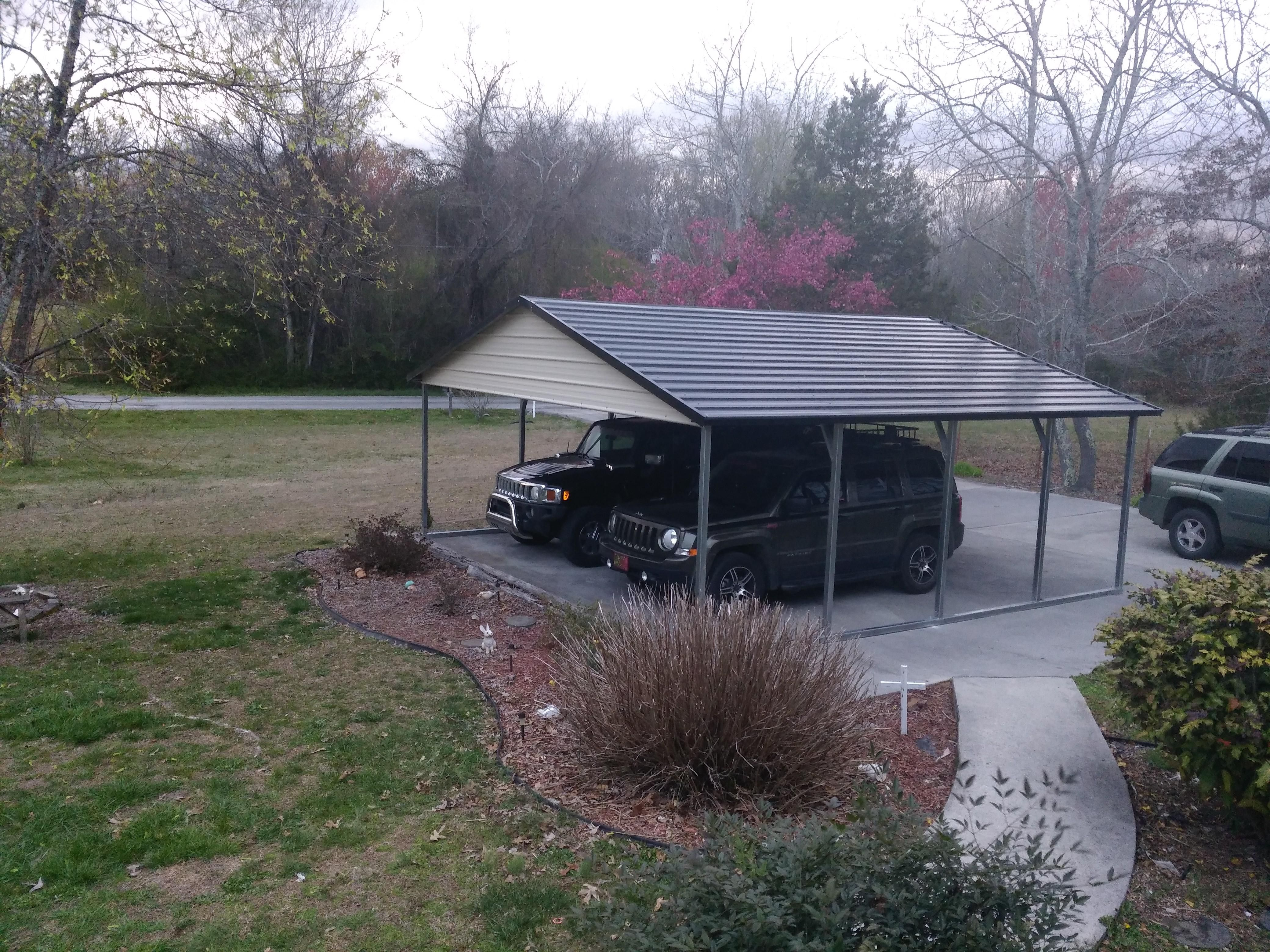 22x21 boxed eave style metal carport Alan's Factory