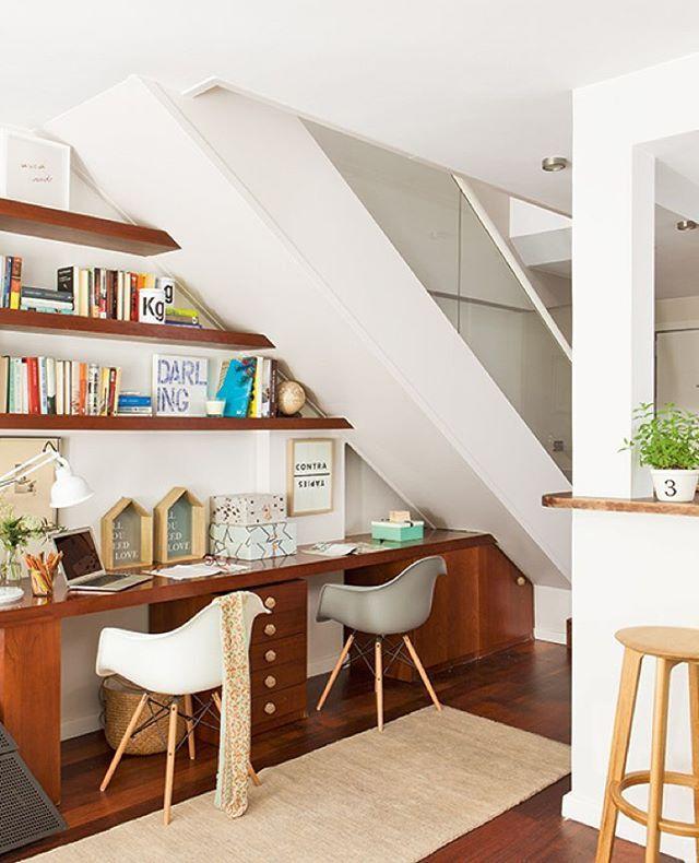 Aprovechar el hueco bajo la escalera para crear una bonita for Aprovechar hueco escalera