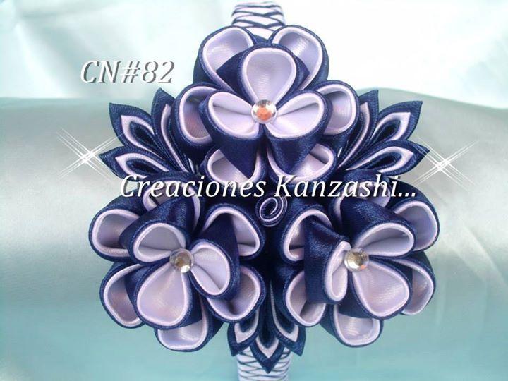 Opaska Kwiaty Ze Wstazki Fabric Flowers Ribbon Flowers Kanzashi