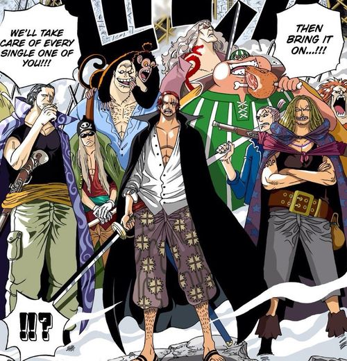 Pin by Pat Montoya on One piece | Red hair shanks, One piece manga, Red  hair shanks crew