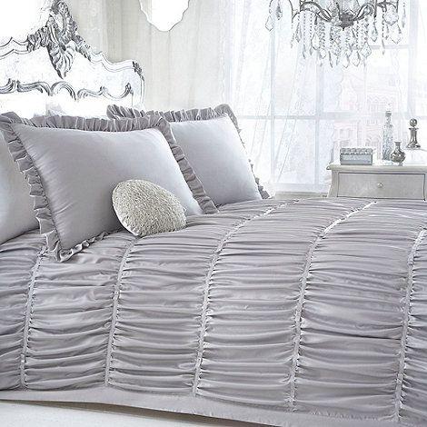 Star by Julien Macdonald Designer silver 'Palermo' bed linen- at Debenhams Mobile