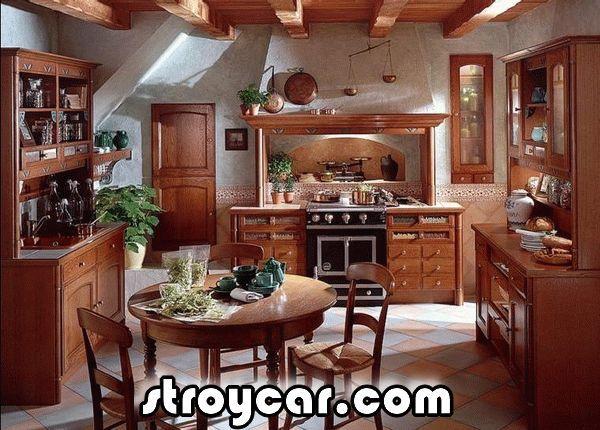 кухни в деревенском стиле фото   Кухня в деревенском стиле ...