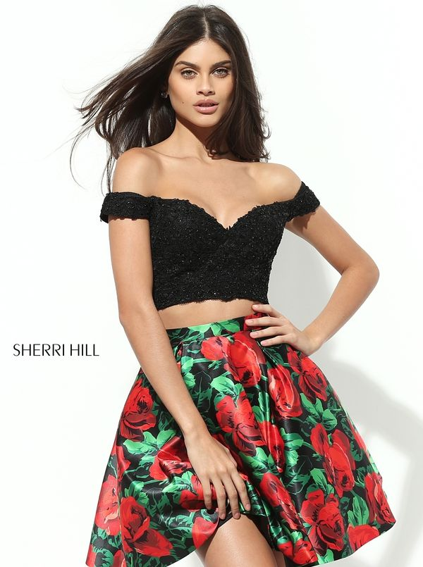 Sherri Hill #50774 Short Fun Two piece Prom Homecoming Formal Dress  #ipaprom #sherrihill