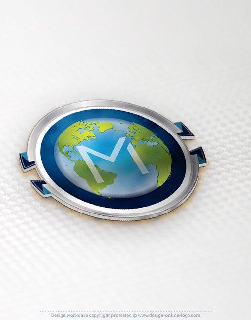 Premium exclusive design alphabet globe 3d logo globe logo free logos reheart Choice Image