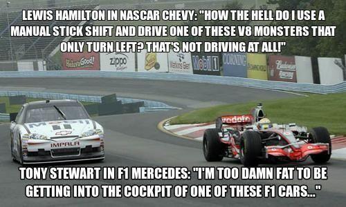 Nascar Vs Formula 1 Viva La Difference Nascar Memes