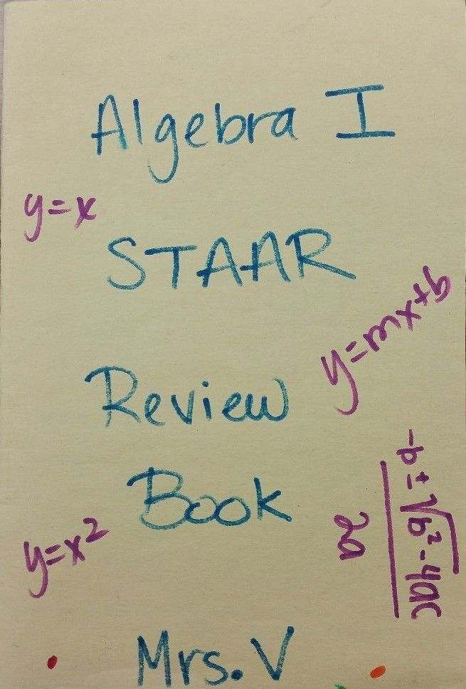 Algebra 1 Staar Review Booklet Teks Aligned Pinterest Texas