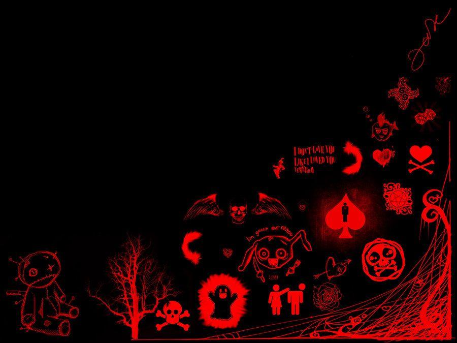 Black And Red Emo Background Black Skulls Wallpaper Skull Wallpaper Emo Backgrounds