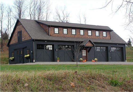 Garages 4 Bay Garage With Workshop Mechanical Room Bathroom And Apartment Entry On Main Floor 2 Garage Apartment Plans Metal Building Homes Garage House