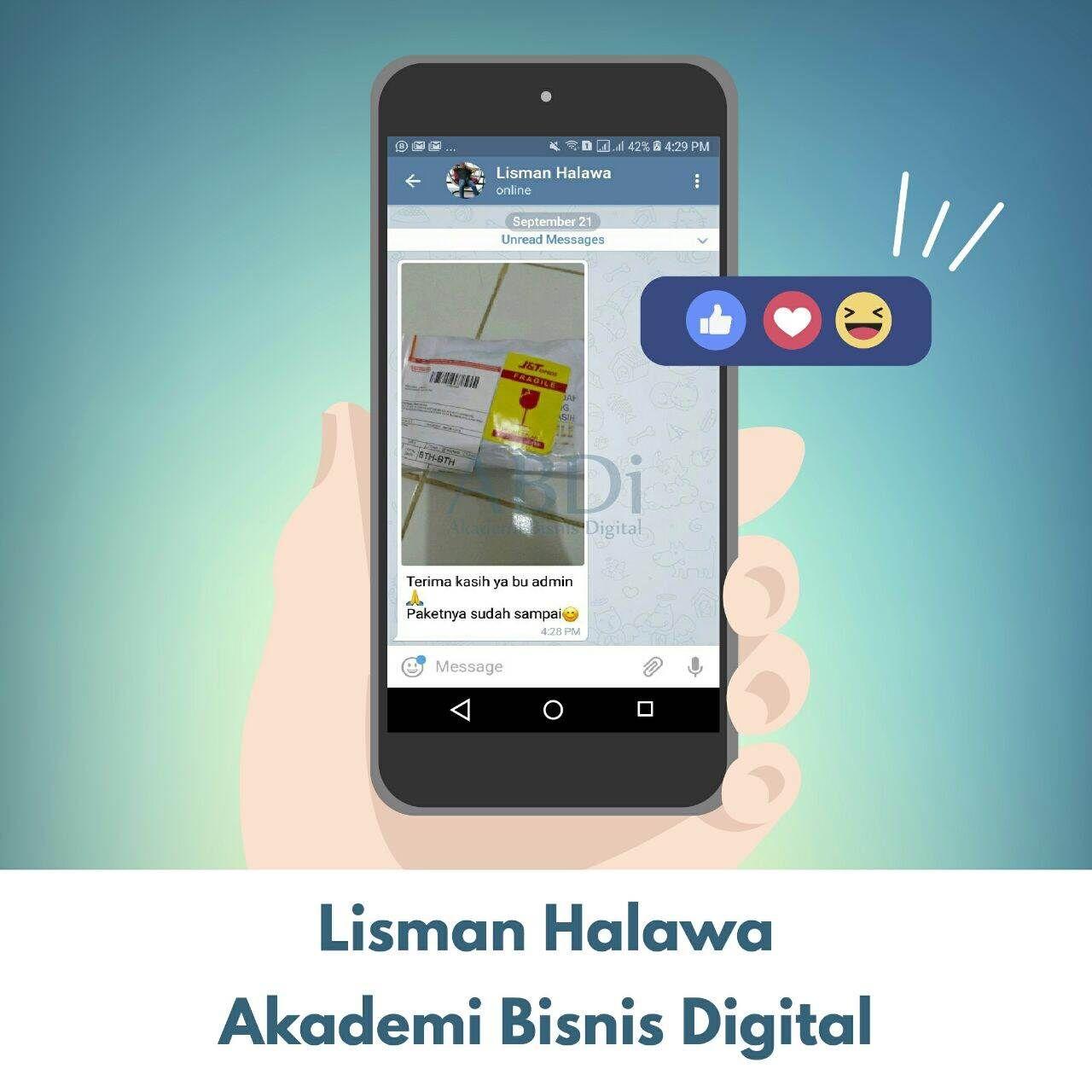 Ade Wahyu P Iqem Line Timeline Marketing Perjalanan Bisnis Smp