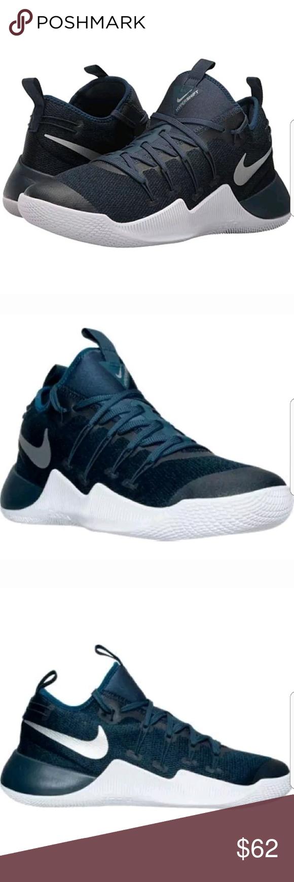 check out 6f82b 0efac Nike Hypershift Basketball Blue 844369 410 NEW WITHOUT BOX Men s Nike  Hypershift Basketball Shoe Squadron Blue Metallic Silver White 844369-410  Shoot me ...
