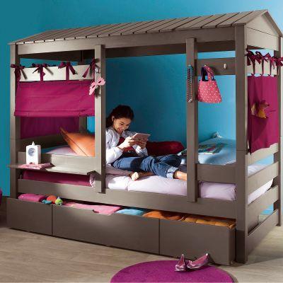 lit cabane 3 suisses chambre enfant pinterest lit baldaquins tiroir de rangement et baldaquin. Black Bedroom Furniture Sets. Home Design Ideas