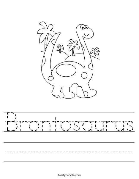 Brontosaurus Worksheet Dinosaur Activities Dinosaur Worksheets Dinosaur Activities Preschool