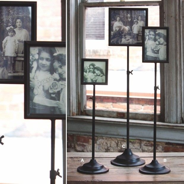 Adjustable Photo Frame With Stand Antique Farmhouse Restoration