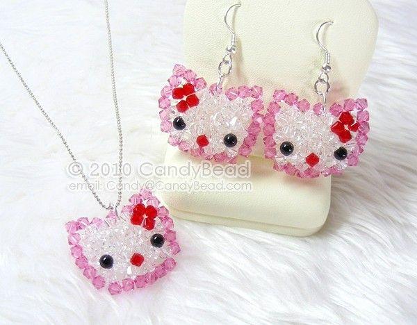 91bb18f80 Crystal Necklace; Swarovski Necklace; Glass Necklace; Sweet Kitty ...