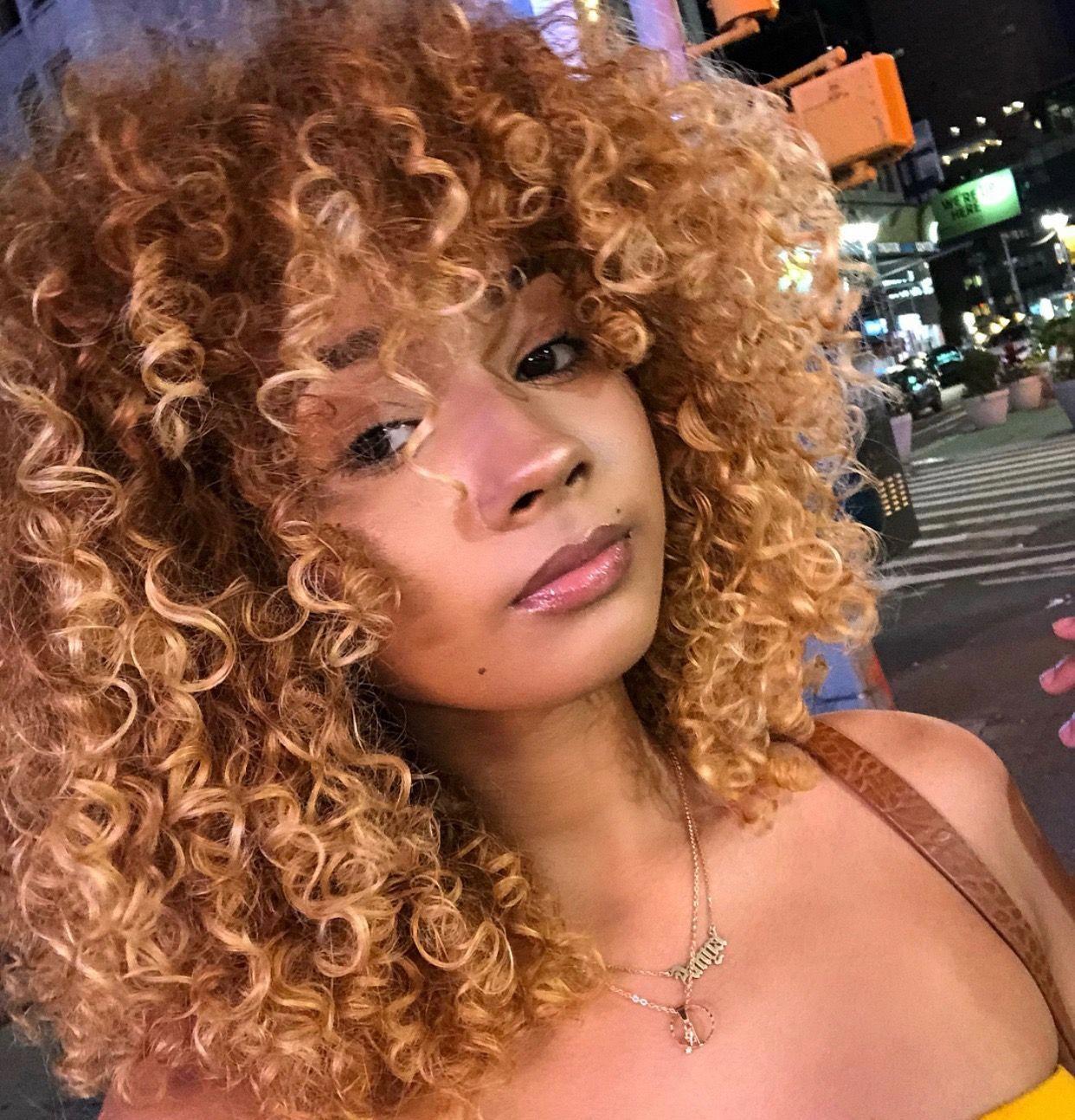 Naturalmakeupforblondes Blonde Natural Hair Colored Curly Hair