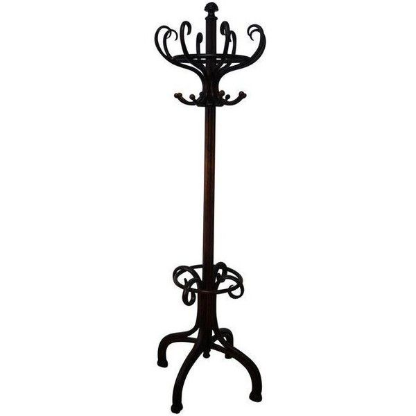 Small Hat Stand: Thonet Antique Bent Wood Hat & Coat Rack Stand ($1,295
