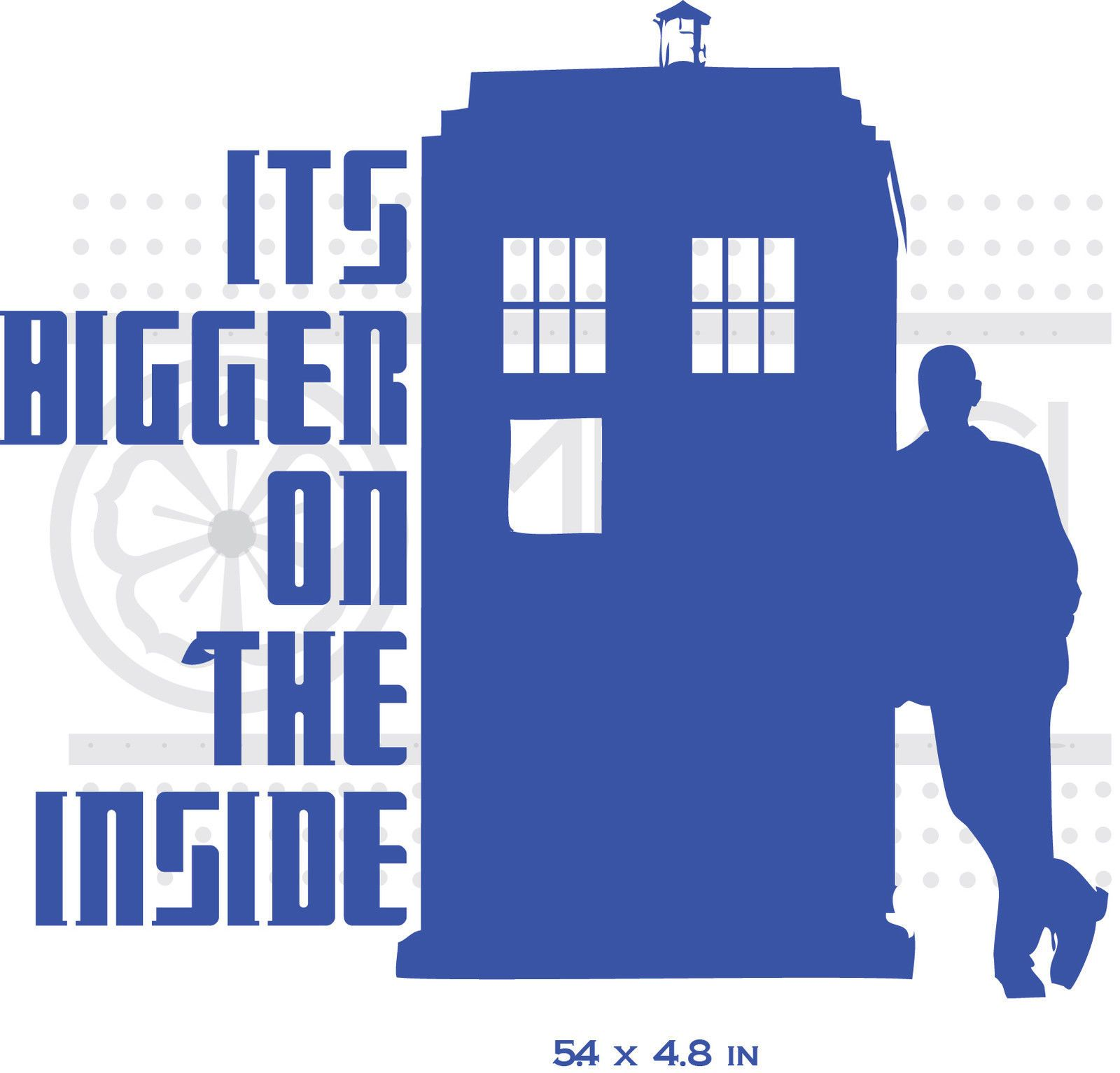 good looking doctor who tardis door decal. Dr Who Tardis Its Bigger on The Inside Funny RARE Vinyl Decal Sticker  eBay