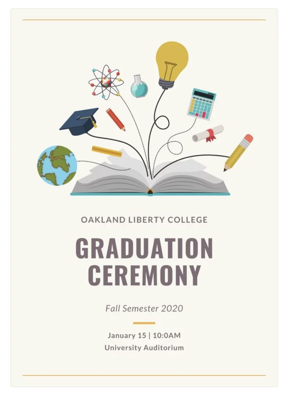Pin by Nhawkins on Convocation booklet in 2020 Graphic