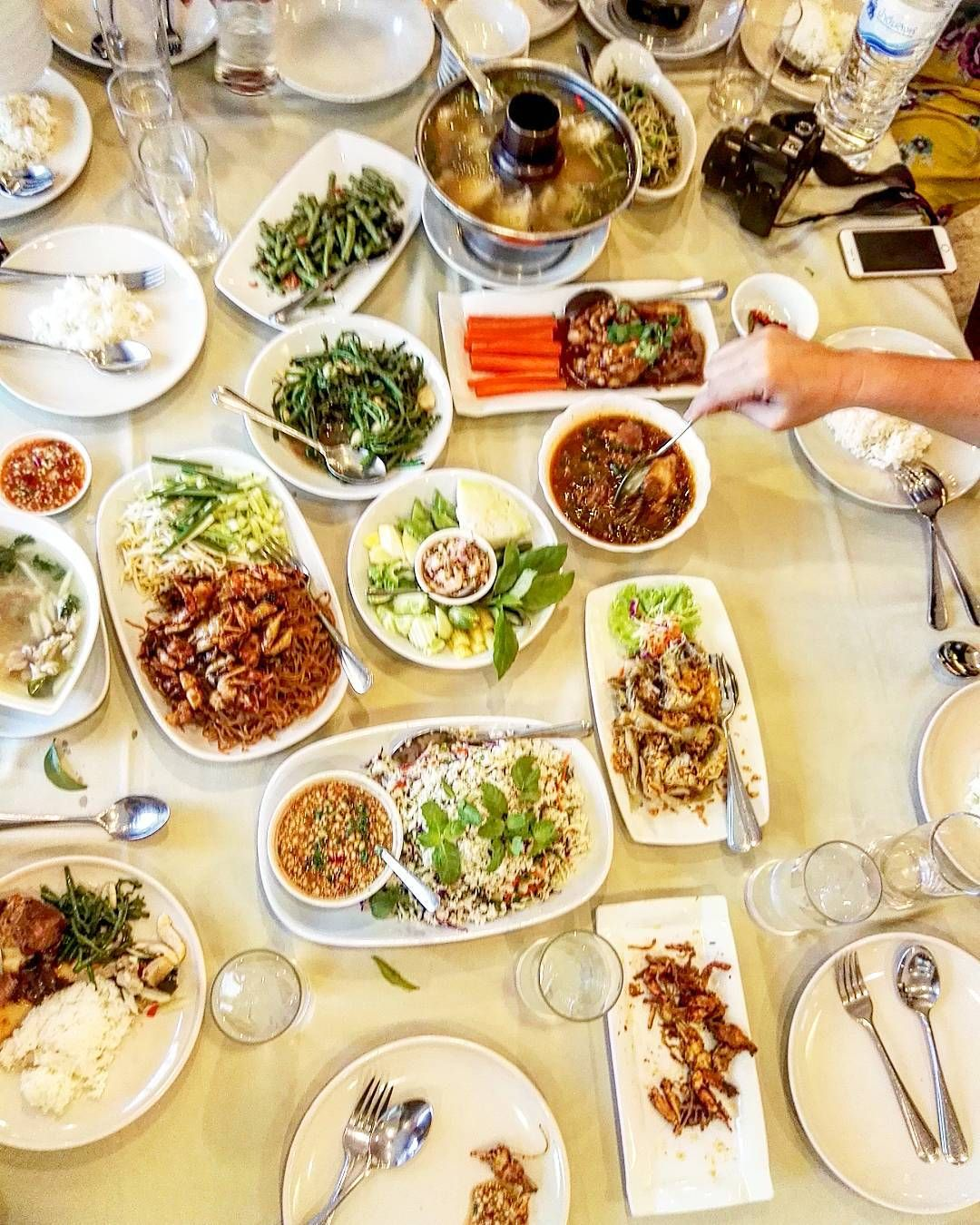 Dining Family Style In Thailand Means A Never Ending Stream Of