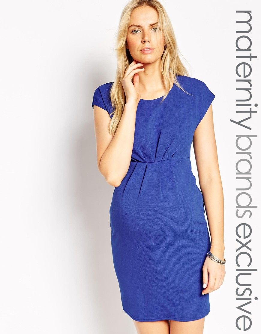 a5ef29333f4 New Look Maternity Pleat Front Dress