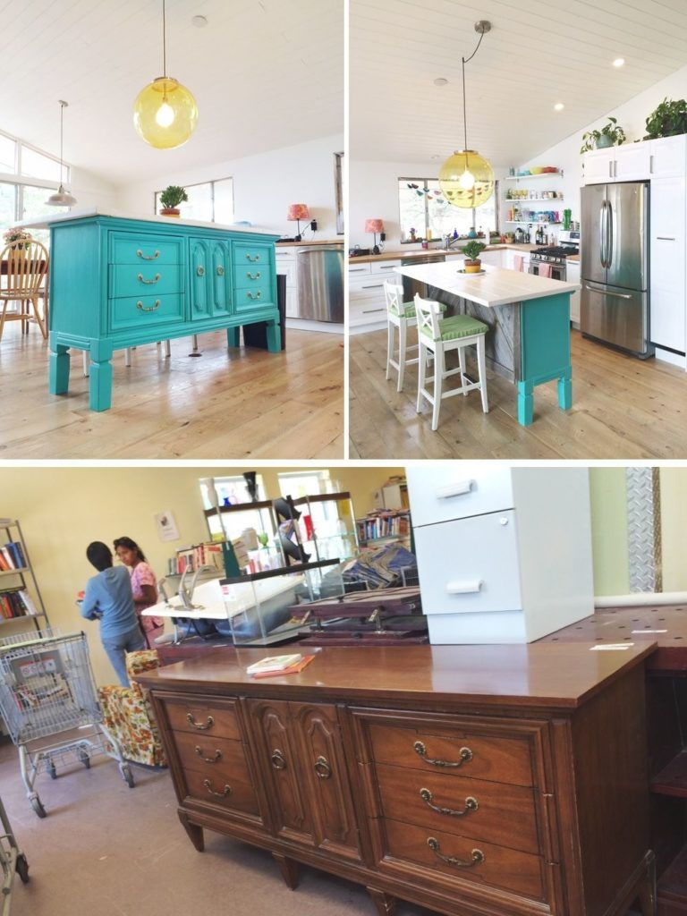 old dressed turned into a kitchen island in 2020 diy kitchen island custom kitchen island on kitchen island ideas diy id=16398