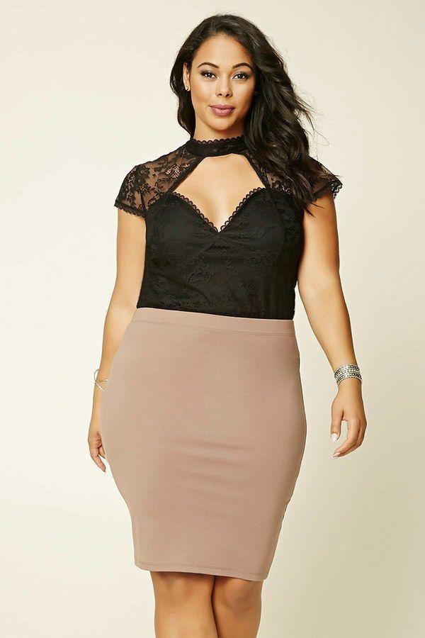 FOREVER 21+ Plus Size Floral Lace Top | Plus size fashion ...